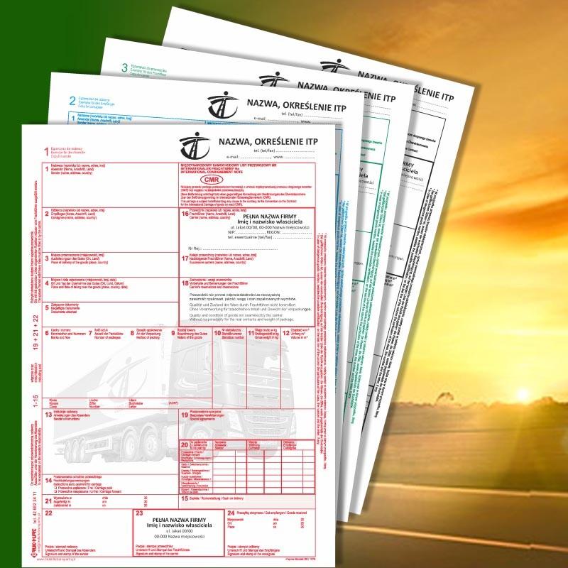 CMR 4 z nadrukiem, CMR z nadrukiem, CMR Międzynarodowe Listy Przewozowe, drukidlatransportu.pl