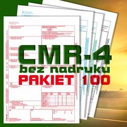CMR 4 100 bloczków, CMR czyste, CMR Międzynarodowe Listy Przewozowe, drukidlatransportu.pl