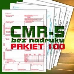 CMR 5 100 bloczków, CMR czyste, CMR Międzynarodowe Listy Przewozowe, drukidlatransportu.pl