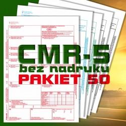 CMR 5 50 bloczków, CMR czyste, CMR Międzynarodowe Listy Przewozowe, drukidlatransportu.pl