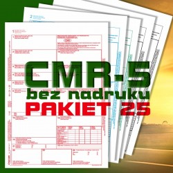 CMR 5 25 bloczków, CMR czyste, CMR Międzynarodowe Listy Przewozowe, drukidlatransportu.pl