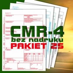 CMR 4 25 bloczków, CMR czyste, CMR Międzynarodowe Listy Przewozowe, drukidlatransportu.pl