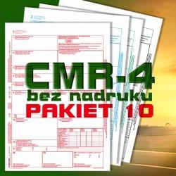 CMR 4 10 bloczków, CMR czyste, CMR Międzynarodowe Listy Przewozowe, drukidlatransportu.pl